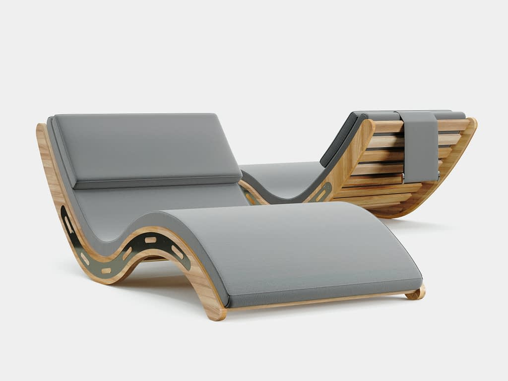 Dune outdoor lounge chair